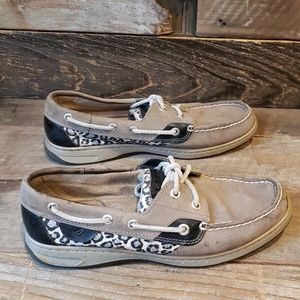 Sperry Bluefish Sparkle & Leopard boat shoes
